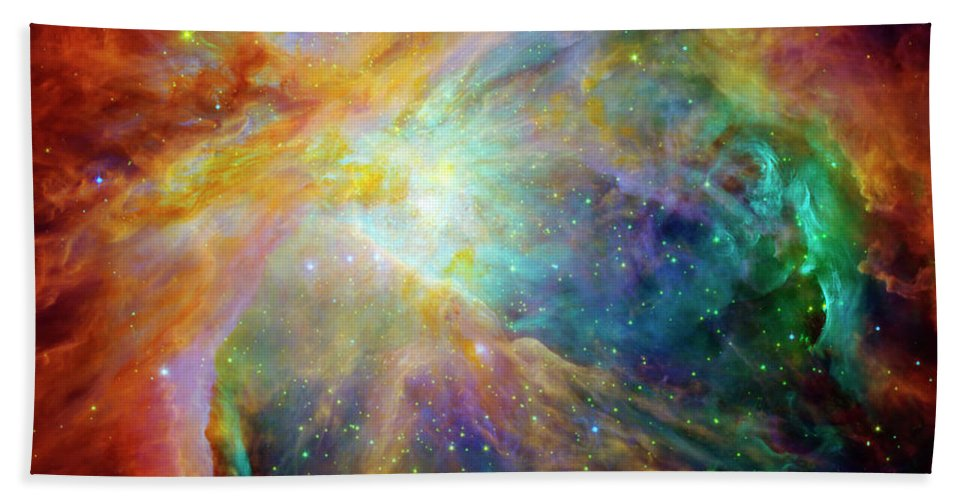 Messier 42 Beach Towel featuring the photograph The Orion Nebula Close Up II by Ricky Barnard