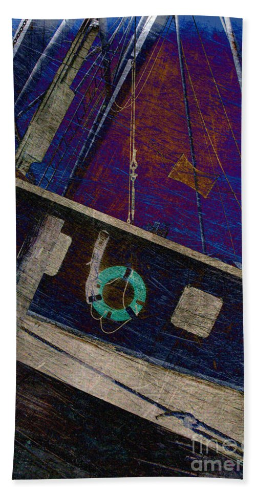Boat Beach Towel featuring the photograph The Other Way To Go by Susanne Van Hulst