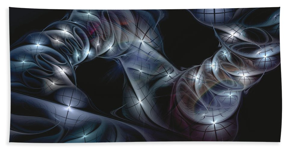 Abstract Beach Towel featuring the digital art The Passing by Casey Kotas