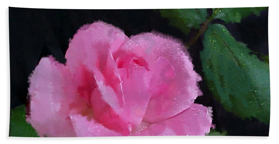 Rose Beach Towel featuring the photograph The Pink Rose by Betty LaRue