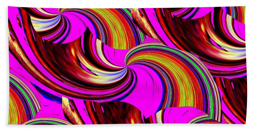 Abstract Beach Towel featuring the digital art The Point Is by Tim Allen