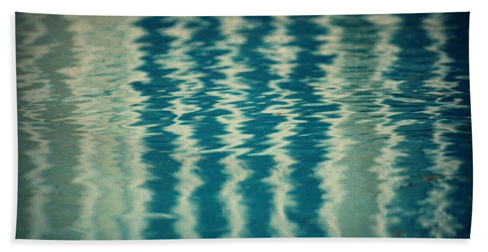 Pool Beach Towel featuring the photograph The Pool Party by Mandy Shupp