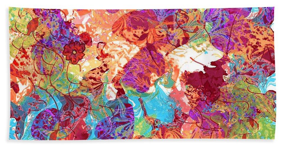 Abstract Beach Towel featuring the digital art The Princess Dream by Rachel Christine Nowicki