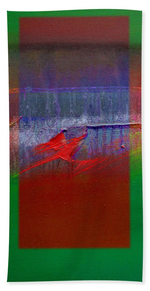 Landscape Beach Towel featuring the painting The Red Dragon Tatoo by Charles Stuart