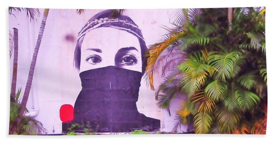 Woman Beach Towel featuring the photograph Fighting For Life by Kicking Bear Productions