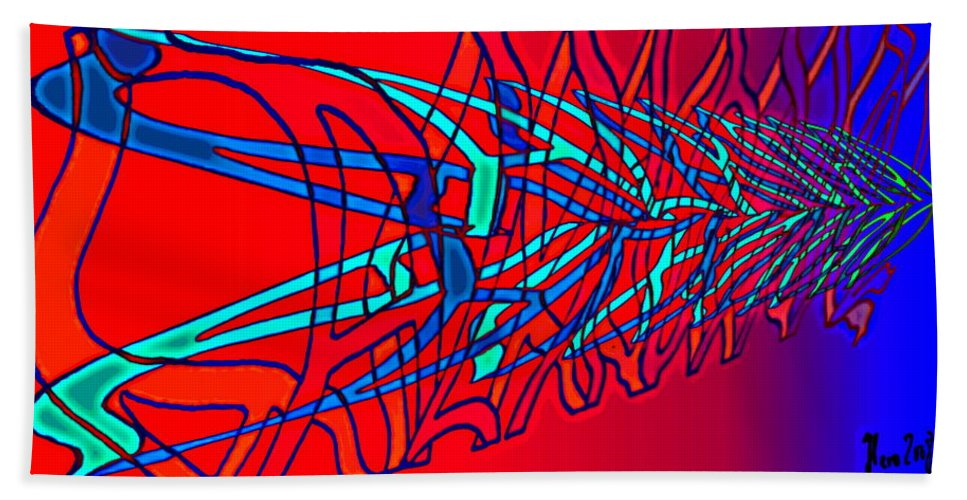 C2 Beach Towel featuring the digital art The Risc Of Alcohol by Helmut Rottler