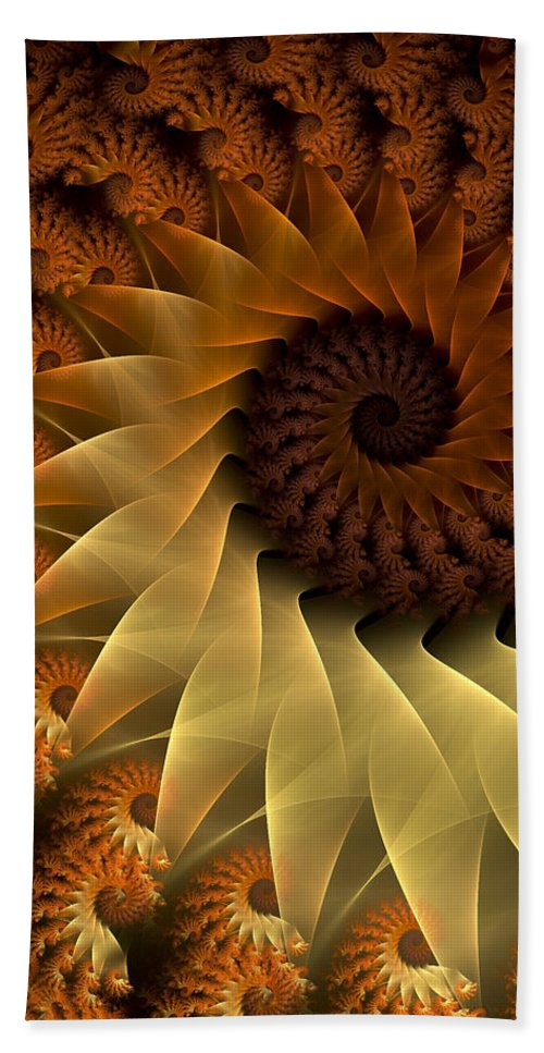 Fractal Beach Towel featuring the digital art The Rising Sun by Amorina Ashton