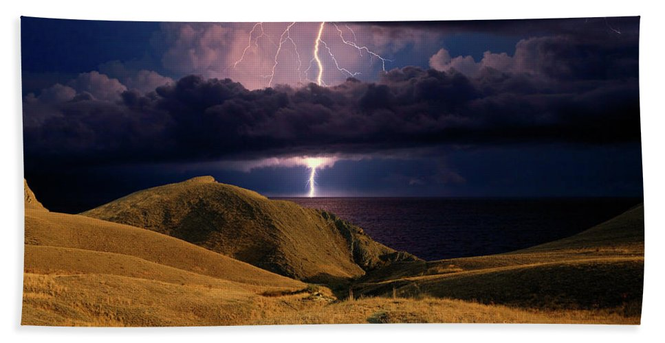 Dark Beach Towel featuring the photograph The Road Forward by Yuri Hope