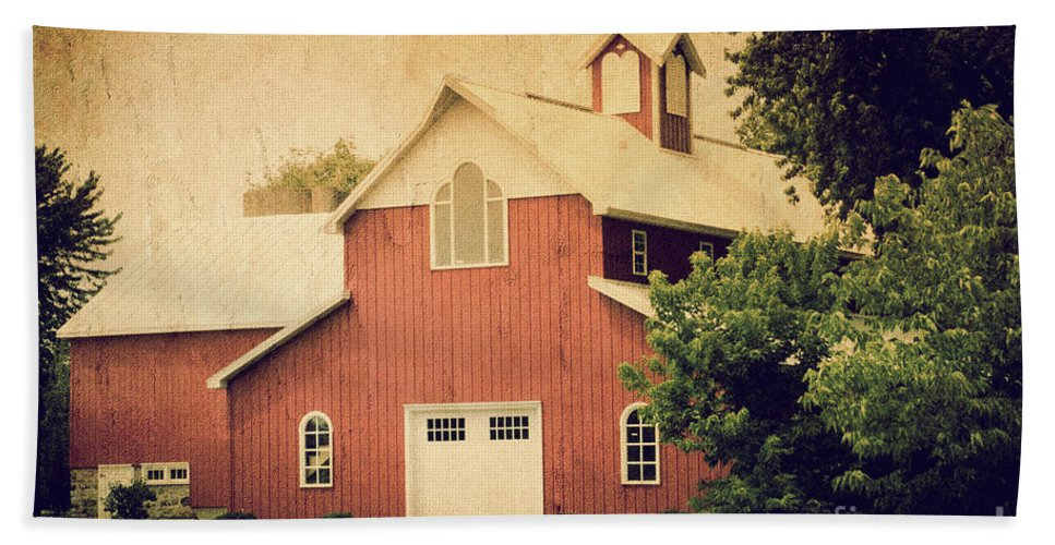 Barn Beach Towel featuring the photograph The Rocket Barn by Joel Witmeyer