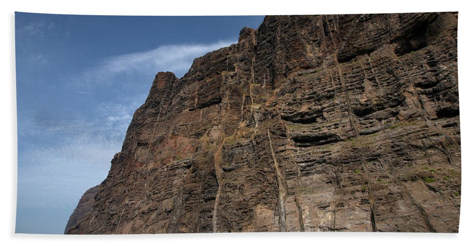 Valasretki Beach Towel featuring the photograph The Rocks Of Los Gigantes 1 by Jouko Lehto