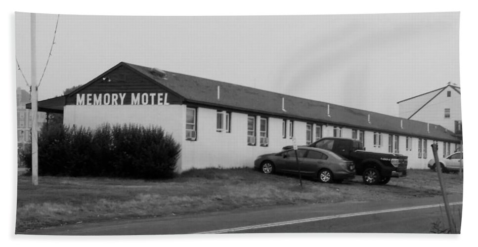 The Rolling Stones Beach Towel featuring the photograph The Rolling Stones' Memory Motel Montauk New York by Rob Hans
