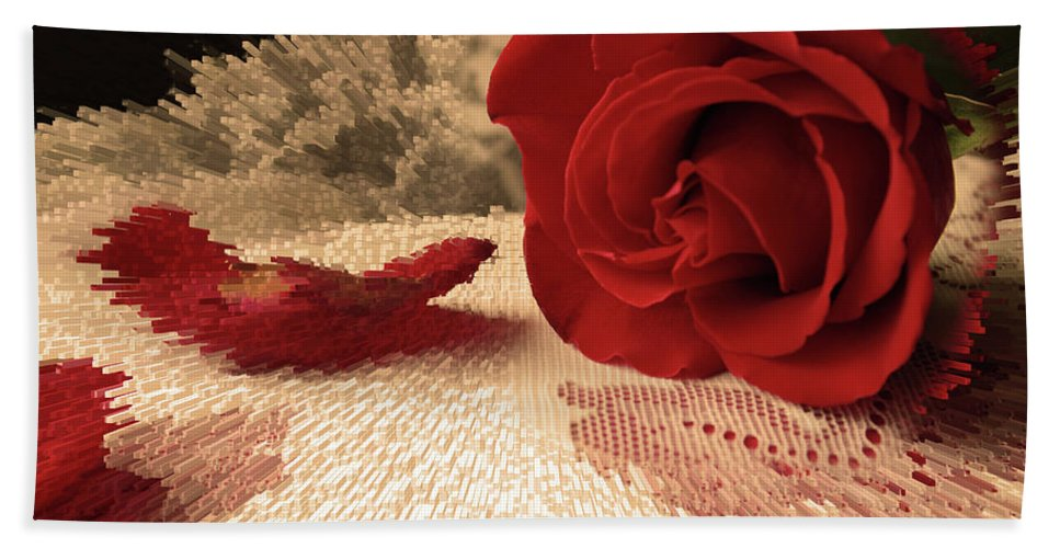 Rose Beach Towel featuring the photograph The Rose by Bonnie Willis
