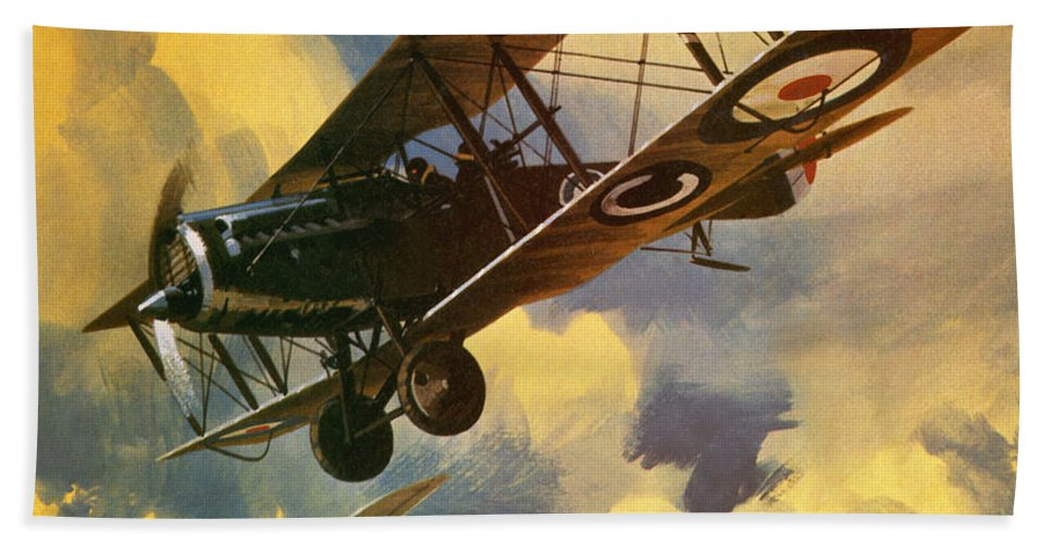 Royal Flying Corps Beach Towel featuring the painting The Royal Flying Corps by Wilf Hardy