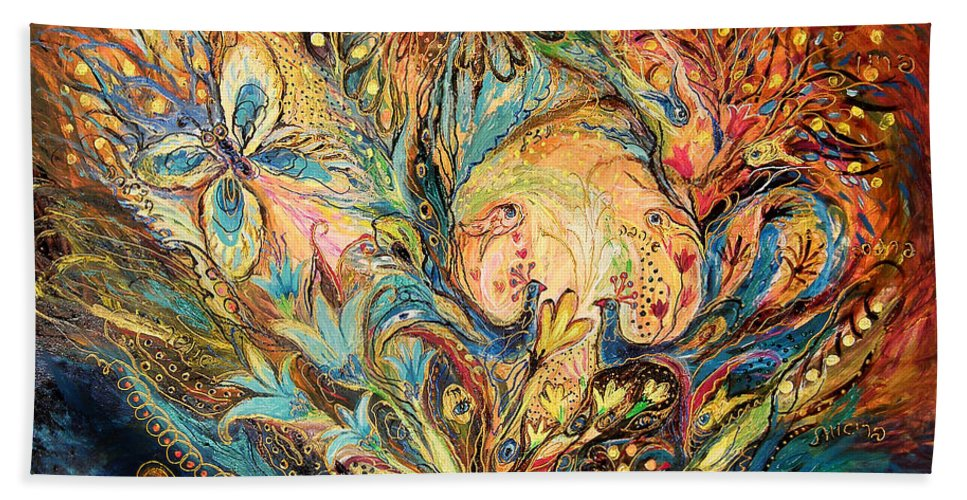 Original Beach Towel featuring the painting The Sea Soul by Elena Kotliarker