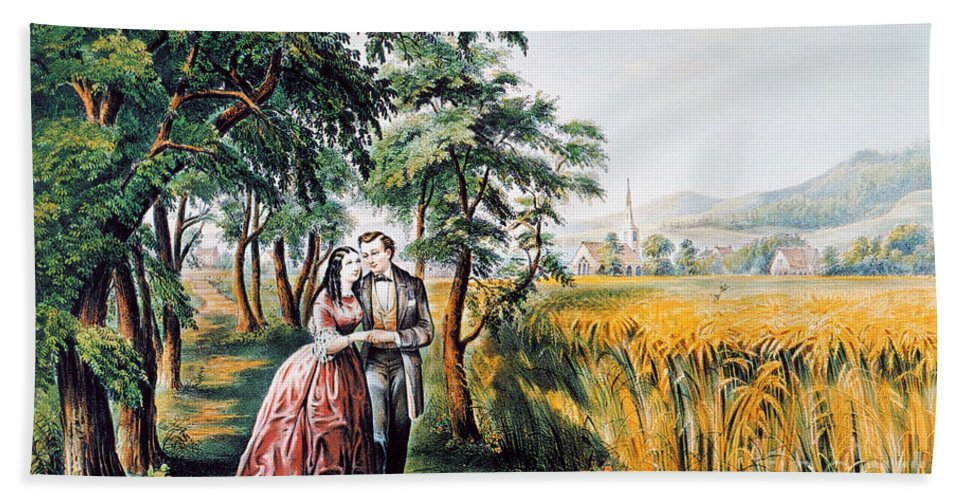 1868 Beach Towel featuring the photograph The Season Of Love by Granger
