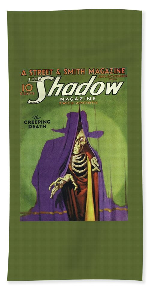 The Shadow Beach Sheet featuring the painting The Shadow The Creeping Death by Conde Nast