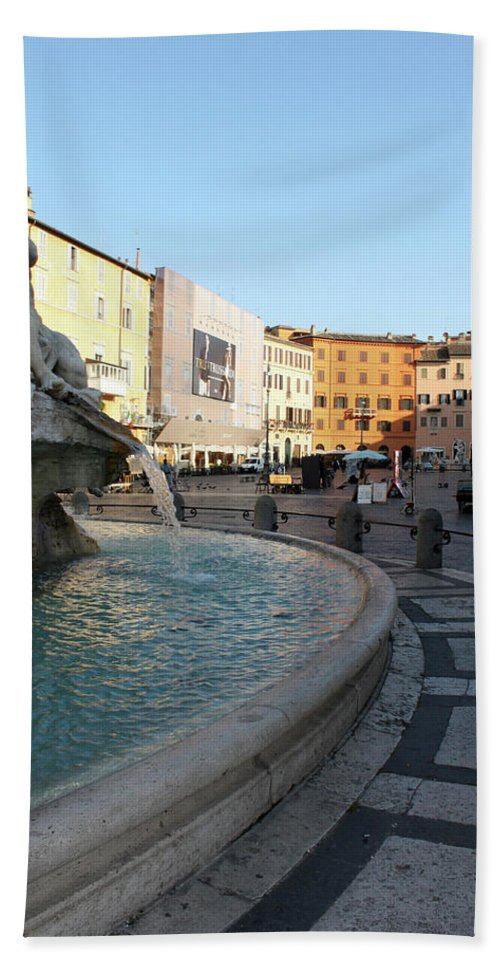 Piazza Navona Beach Towel featuring the photograph The Shame by Munir Alawi