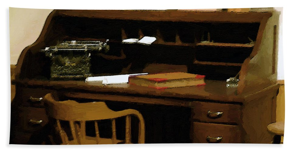 Antiques Beach Sheet featuring the digital art The Sheriff Is Out by RC DeWinter