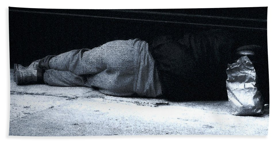 Homeless Beach Sheet featuring the photograph The Sidewalks Of New York by RC deWinter