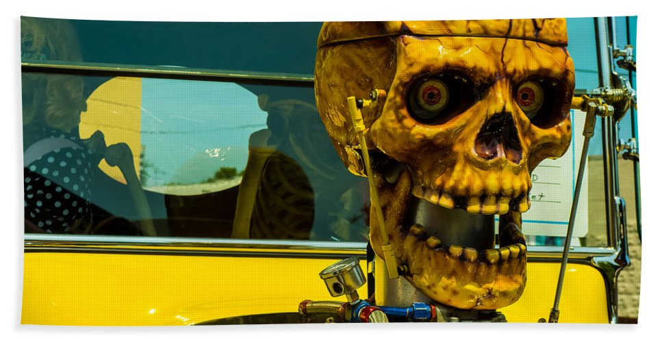 Oddities Beach Towel featuring the photograph The Skull by Michael Colgate
