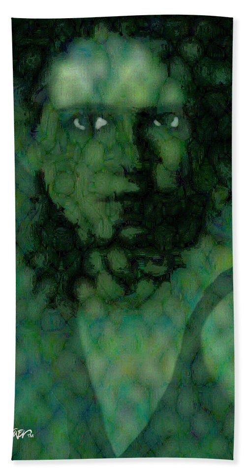 Bizarre Beach Towel featuring the digital art The Snake Lady by Seth Weaver