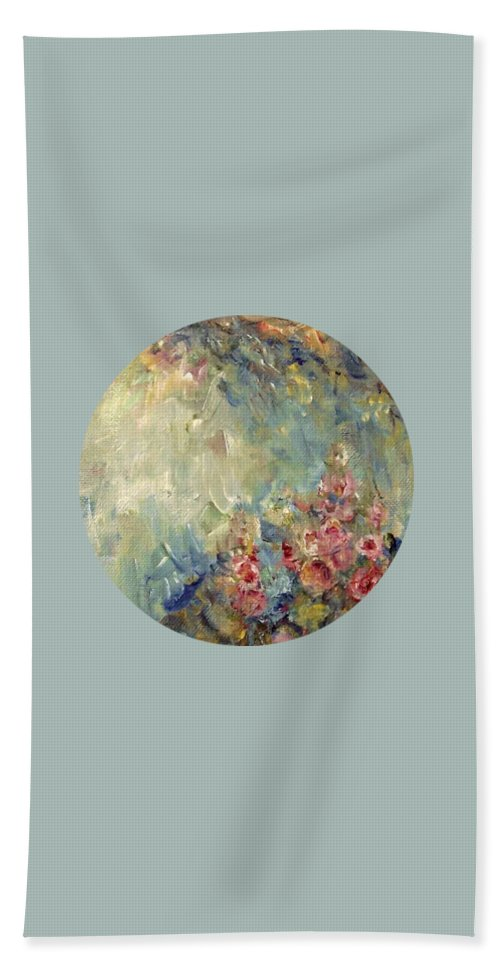 Impressionism Beach Towel featuring the painting The Sparkle Of Light by Mary Wolf