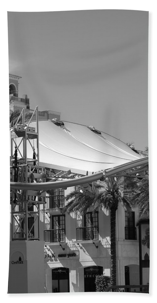 Black And White Beach Towel featuring the photograph The Stage by Rob Hans