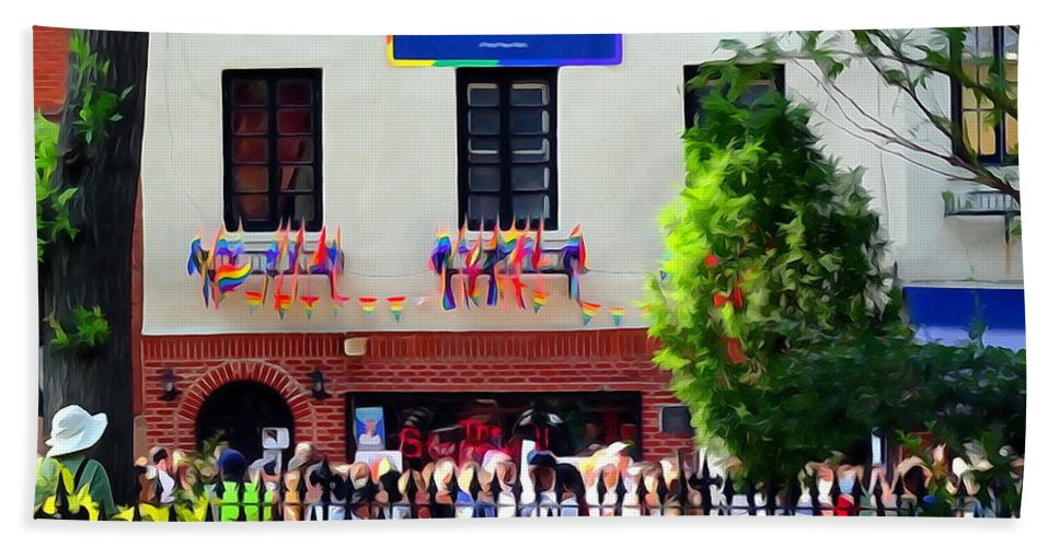 Digital Beach Towel featuring the photograph The Stonewall Inn National Monument by Ed Weidman