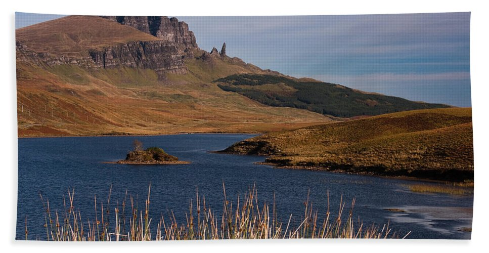 Scotland Beach Towel featuring the photograph The Storr by Colette Panaioti