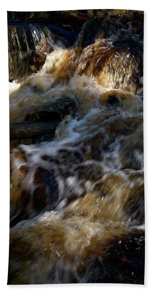 Lehtokukka Beach Towel featuring the photograph The Stream 1 by Jouko Lehto