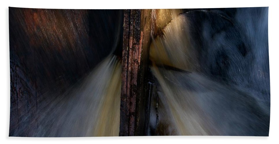 Lehtokukka Beach Towel featuring the photograph The Stream 2 by Jouko Lehto