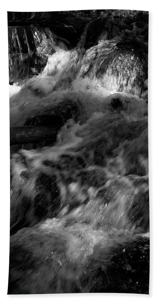 Lehtokukka Beach Towel featuring the photograph The Stream In Bw by Jouko Lehto