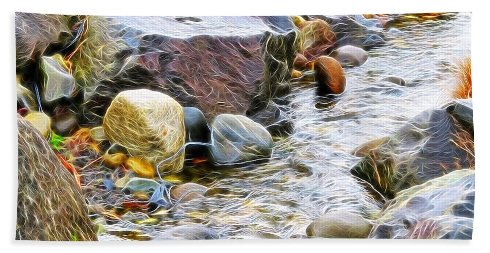 Stream Beach Towel featuring the photograph The Stream by Tim Coleman