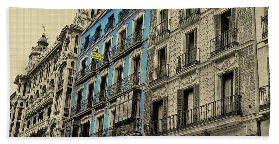 Architecture Beach Sheet featuring the photograph The Streets Of Toledo by JAMART Photography