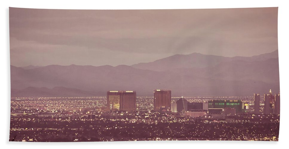 Architecture Beach Towel featuring the photograph The Strip. 1 Of 4 by Charles Wollertz