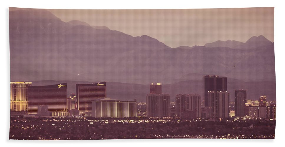 Architecture Beach Towel featuring the photograph The Strip. 3 Of 4 by Charles Wollertz