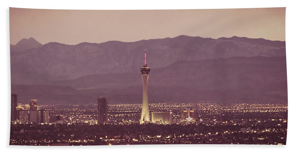 Architecture Beach Towel featuring the photograph The Strip. 4 Of 4 by Charles Wollertz