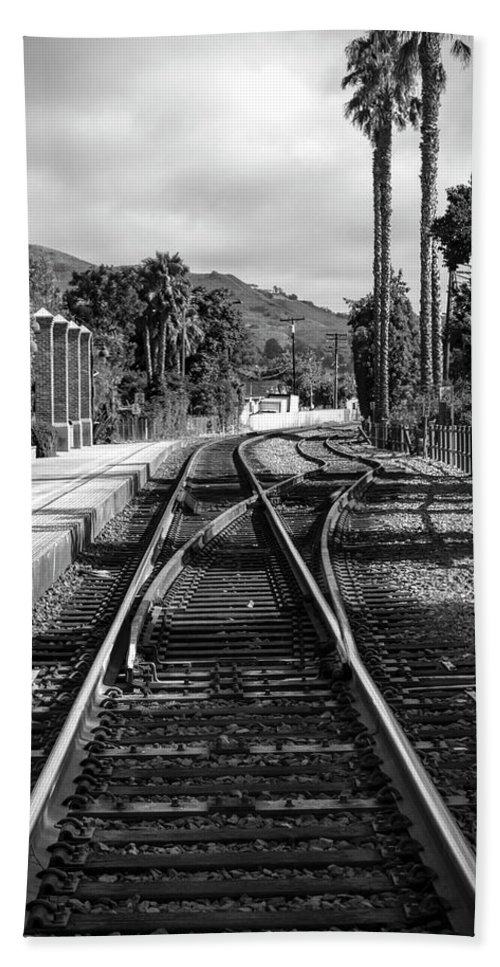 Railroad Beach Towel featuring the photograph The Switch by Dennis Reagan