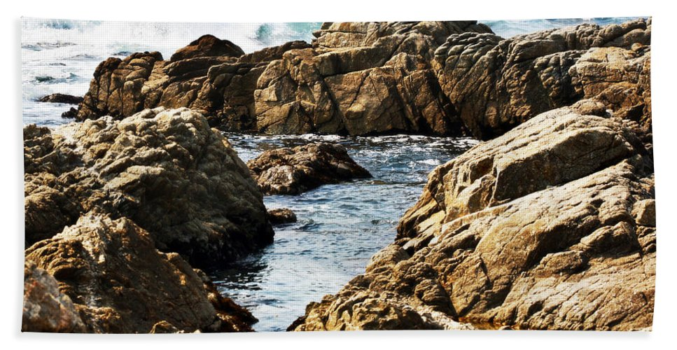 Tide Beach Towel featuring the photograph The Tide Rushes In by Marilyn Hunt