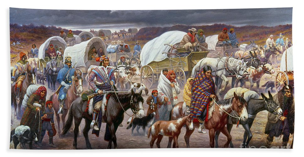 The Trail Of Tears Beach Towel for Sale by Granger