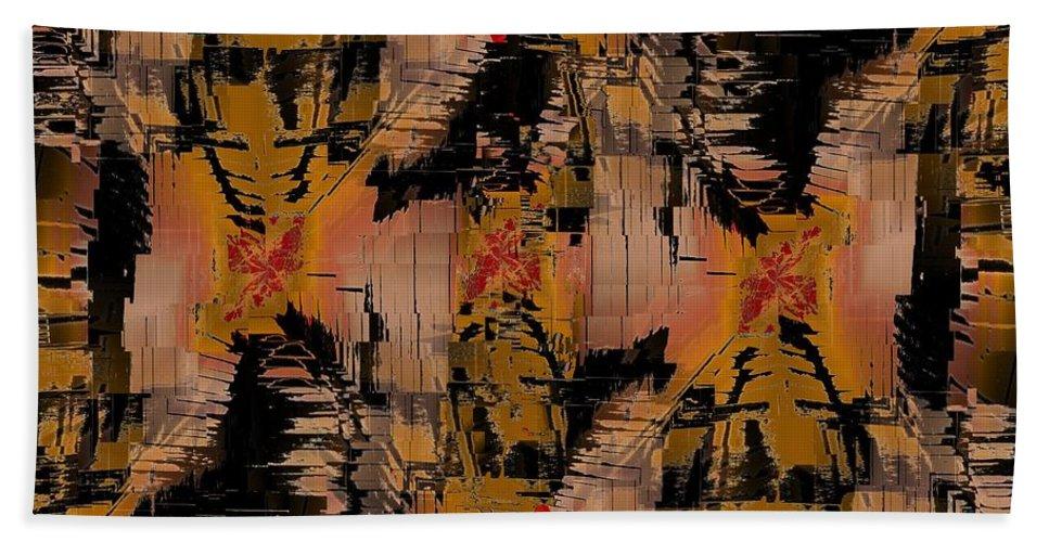 Turmoil Beach Towel featuring the digital art The Turmoil Within by Tim Allen