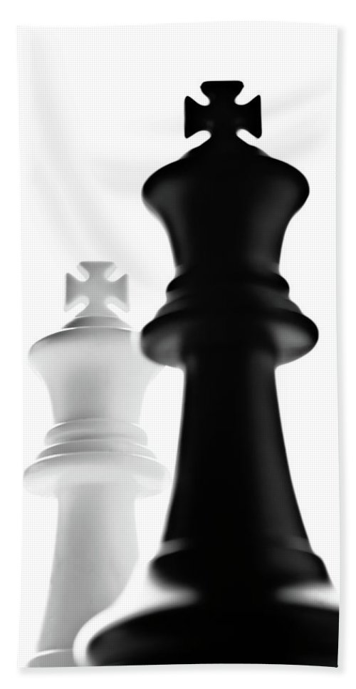 King Chess Pieces Beach Towel featuring the photograph The Two Kings by Onyonet Photo Studios