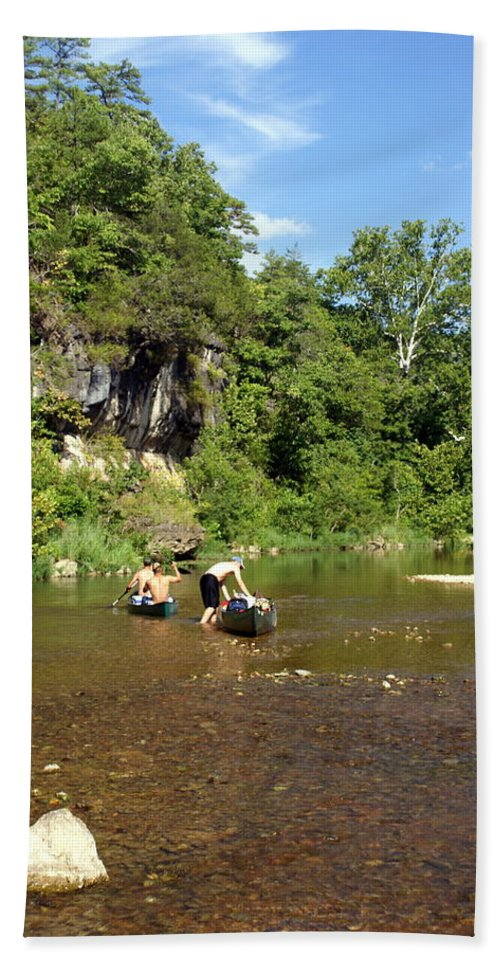 Jack's Fork River Beach Towel featuring the photograph The Upper Jack by Marty Koch