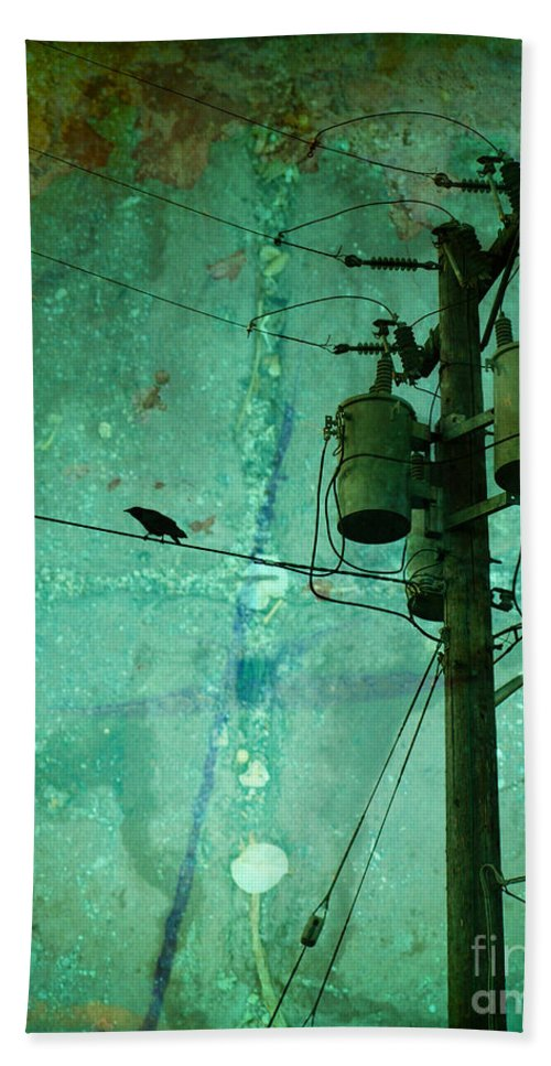 Urban Beach Towel featuring the photograph The Urban Crow by Tara Turner