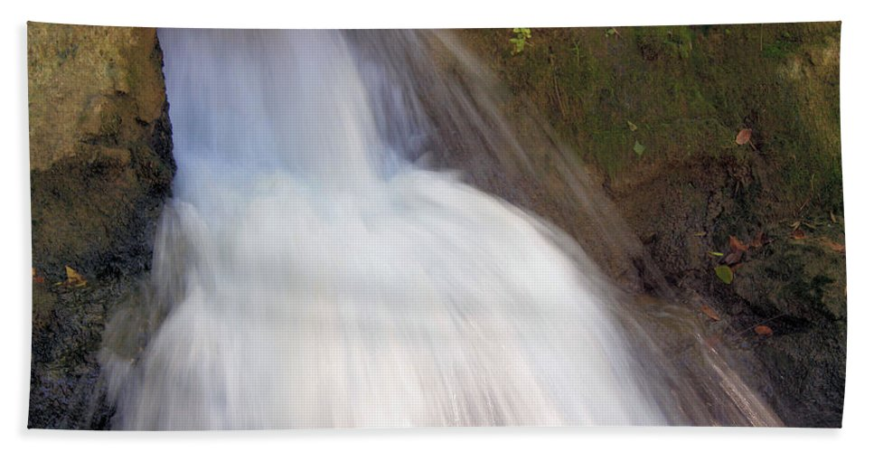 Waterfall Beach Towel featuring the photograph The Veil by Kristin Elmquist