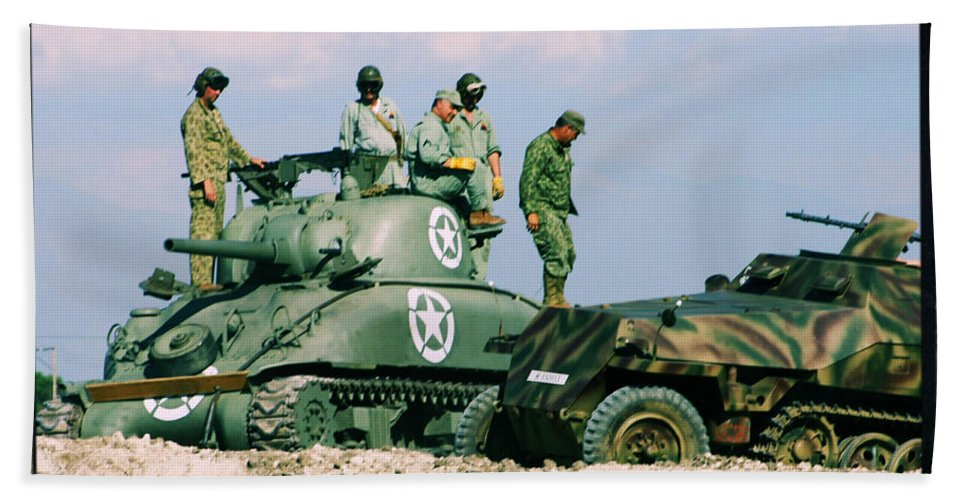 M-4 Sherman Beach Towel featuring the photograph The Victors by Tommy Anderson