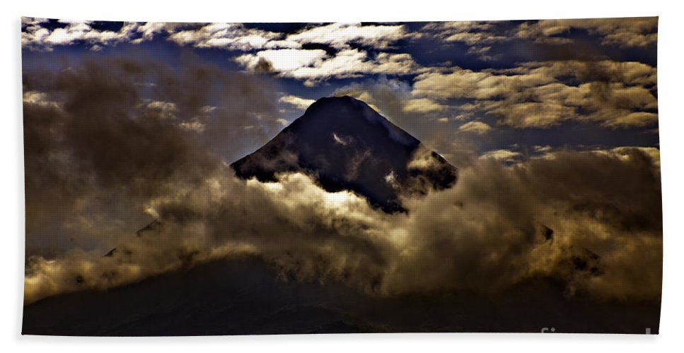 Volcano Beach Towel featuring the photograph The Volcano by Madeline Ellis