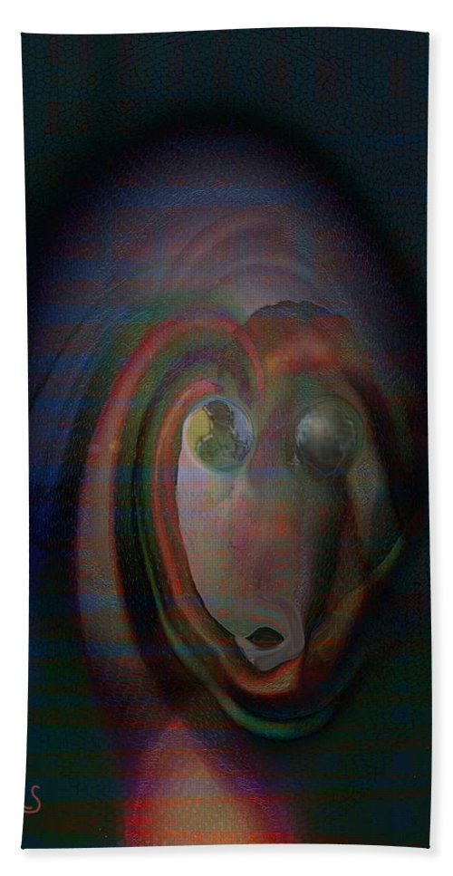 Dart Art Beach Towel featuring the digital art The Watcher by Linda Sannuti