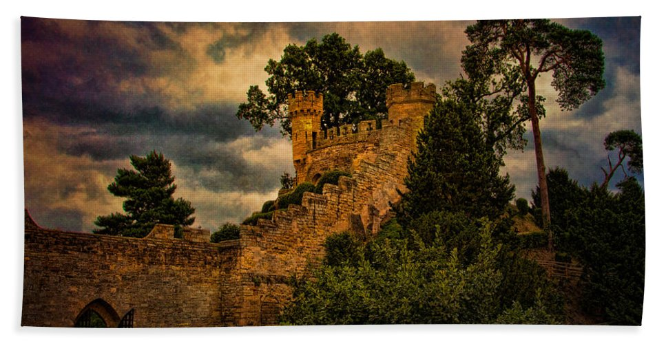 Lookout Beach Towel featuring the photograph The Watchtowers by Chris Lord