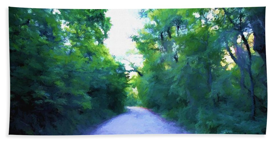 Path Beach Towel featuring the painting The Way Home by Jim Buchanan
